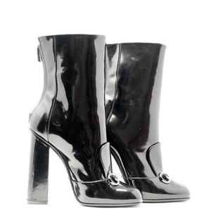 Gucci boots patent leather 38 7.5